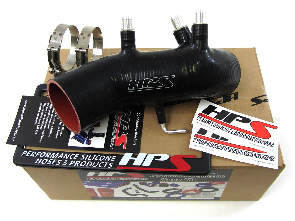 HPS 87-17882-BLK Black Silicone Air Intake Hose (Post MAF Tube)