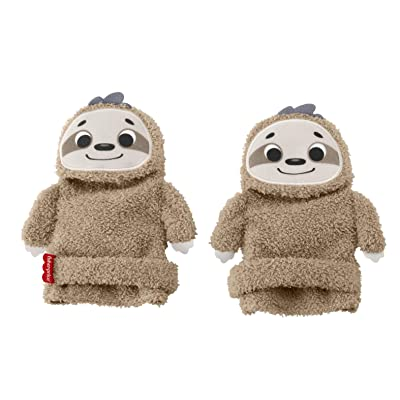 Fisher-Price Sloth Activity Socks, Adjustable Pair of Wearable Baby Rattle Toys: Toys & Games