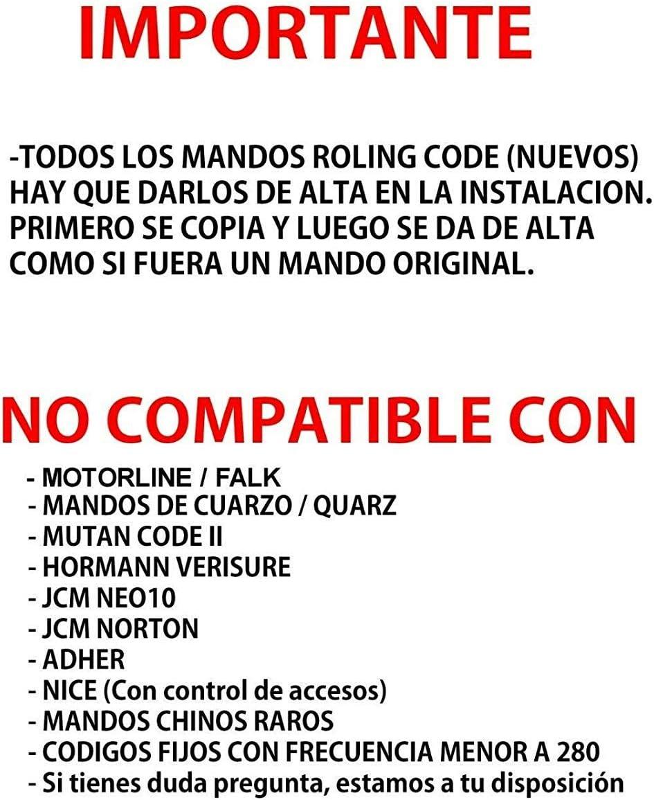 Mando Garaje HR Matic Compatible APRIMATIC TS1 TS2 TSM1 TSM2 ...