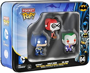 Batman DC Comics Funko Pocket Pop Mini Vinyl Figure Tin 3-Pack ...
