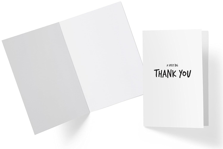 /interno bianco White Bianco/ /Buste A6/biglietto d auguri/ Biglietti di ringraziamento minimalista incl /Design moderno/