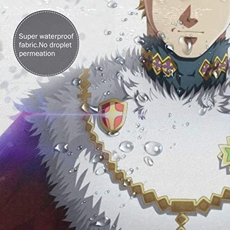 Amazon Com Ihhasd 3d Anime Pattern Black Clover Julius Novachrono Bathroom Shower Curtain 72 W X 72 H Home Kitchen Rip magic emperor julius nova chrono 😭💔. amazon com