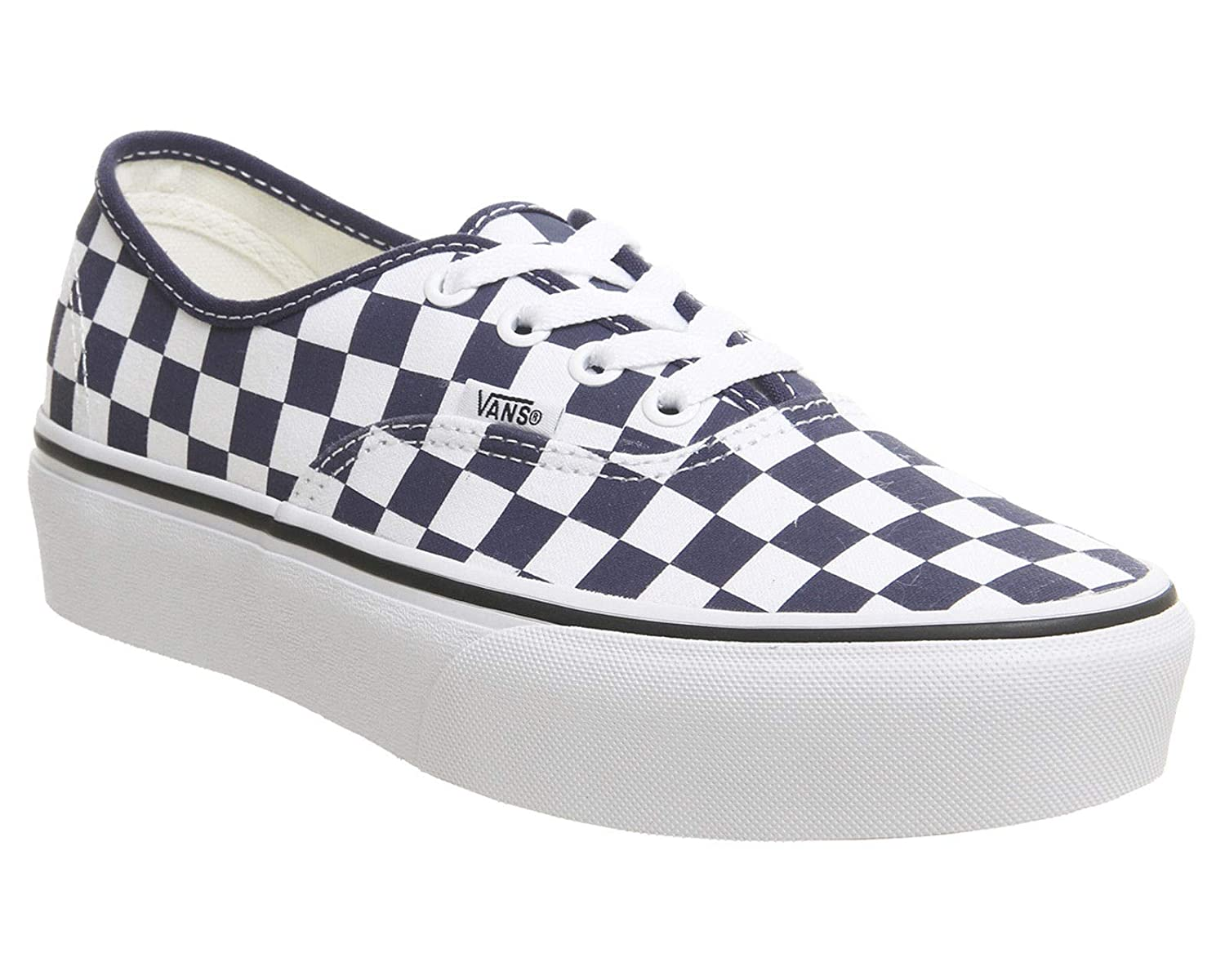 8b3ef05979 Vans - Trainers - UA Authentic Platform (Checkerboard) Blue White   Amazon.co.uk  Shoes   Bags