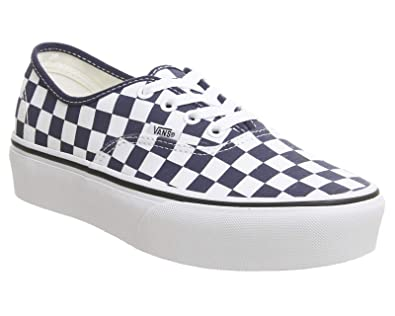 8d216a5aaa20 Vans - Trainers - UA Authentic Platform (Checkerboard) Blue White (2 UK