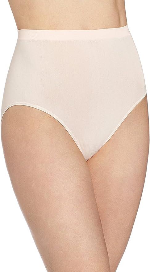 6 Pack Bali Comfort Revolution Seamless Women/'s Brief Panty Underwear 803J