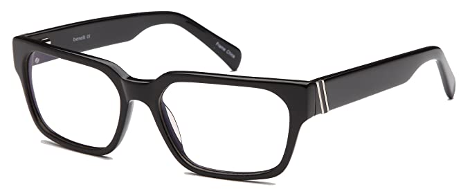e03e240be1 Amazon.com  Mens Thick Prescription Eyeglasses Frames 56-17-135-38 ...