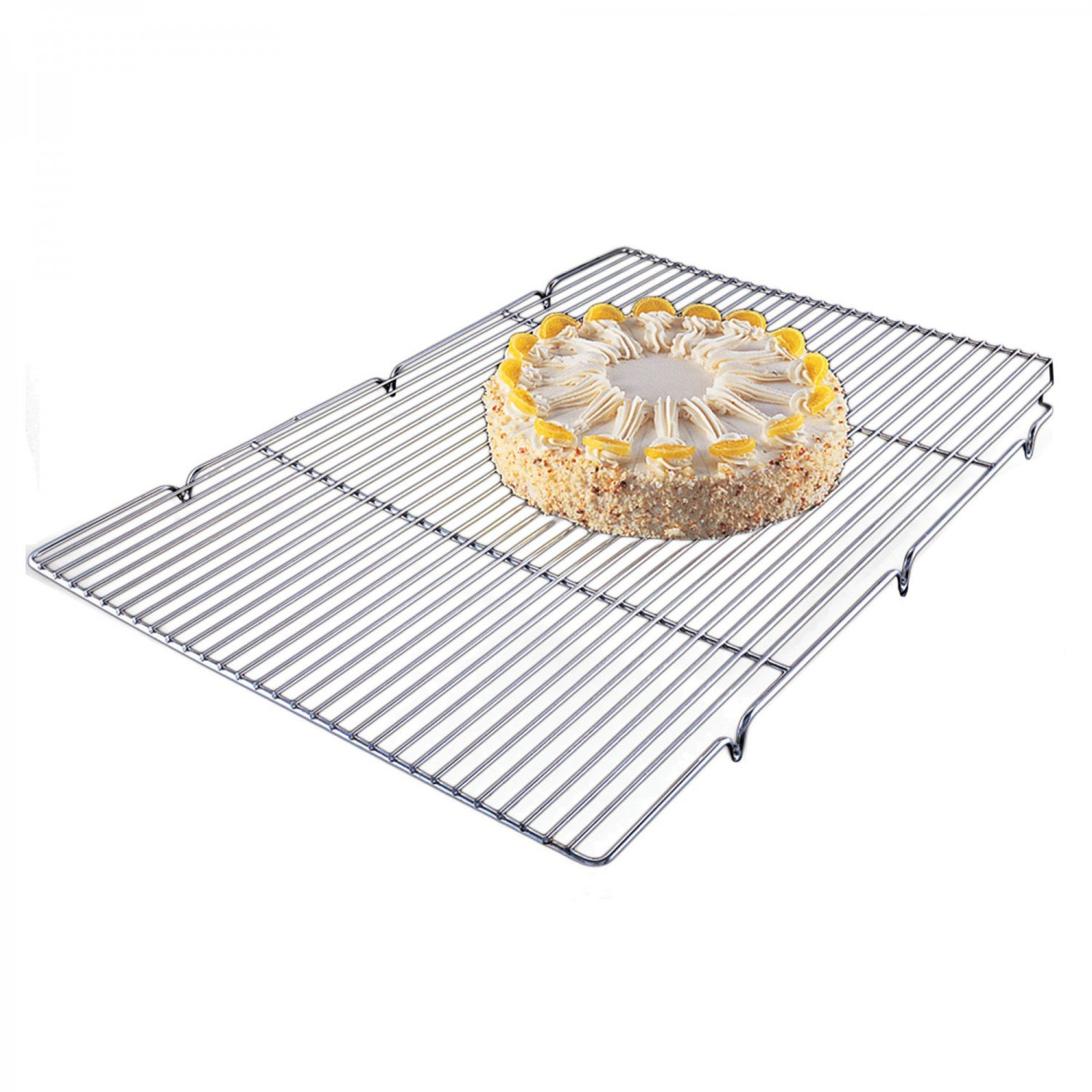 Focus Foodservice 301WS Cooling Grate With Integrated Feet, 16-1/2'' x 24-1/2'' x 1'', Chrome Plated