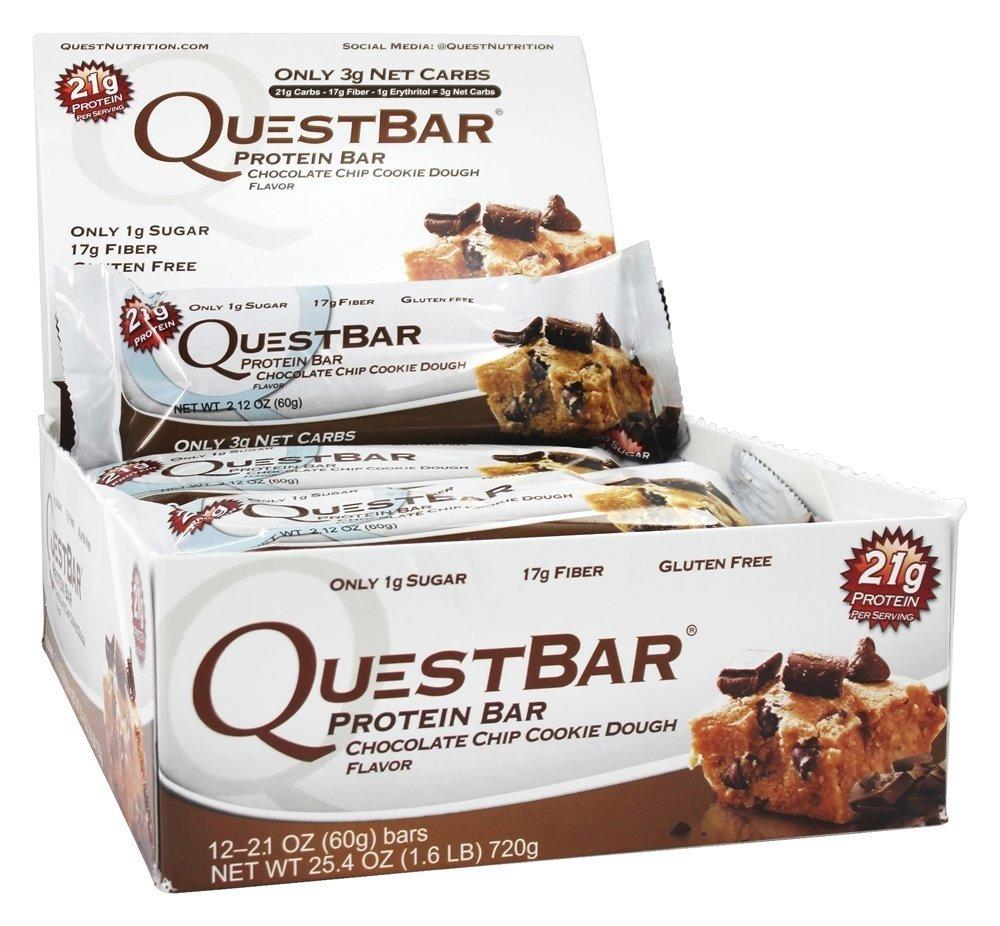 Quest Nutrition Quest Bar Protein - 12 x 60 gr Chocolate Chip Cookie Dough: Amazon.es: Alimentación y bebidas