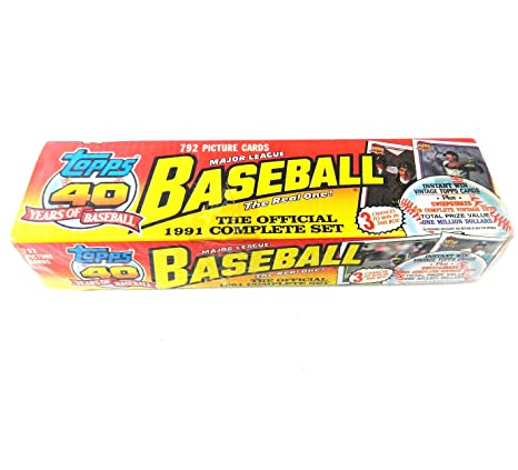 1991 Topps Baseball Factory Set Holiday