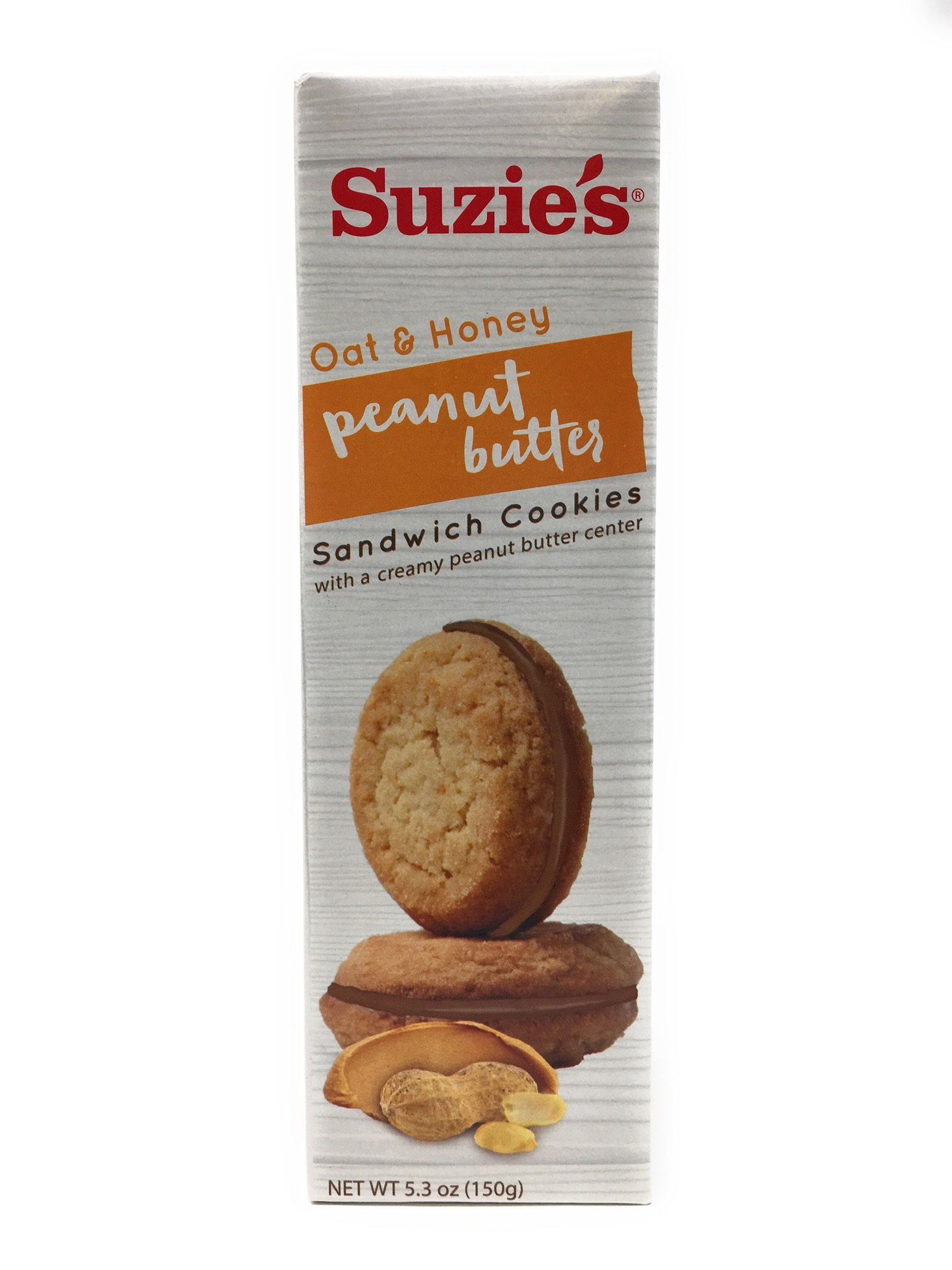 Suzie's Oat & Honey Peanut Butter Sandwich Cookie, 5.3 oz. (Pack of 6)