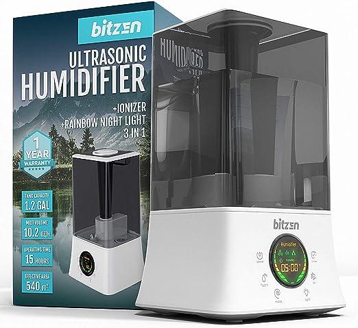 Amazon Com Bitzen Cool Mist Humidifier Essential Oils Diffuser