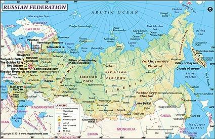 Cartina Russia Regioni.Russia Mappa 91 4 Cm W X 59 4 Cm H Amazon It Cancelleria E Prodotti Per Ufficio