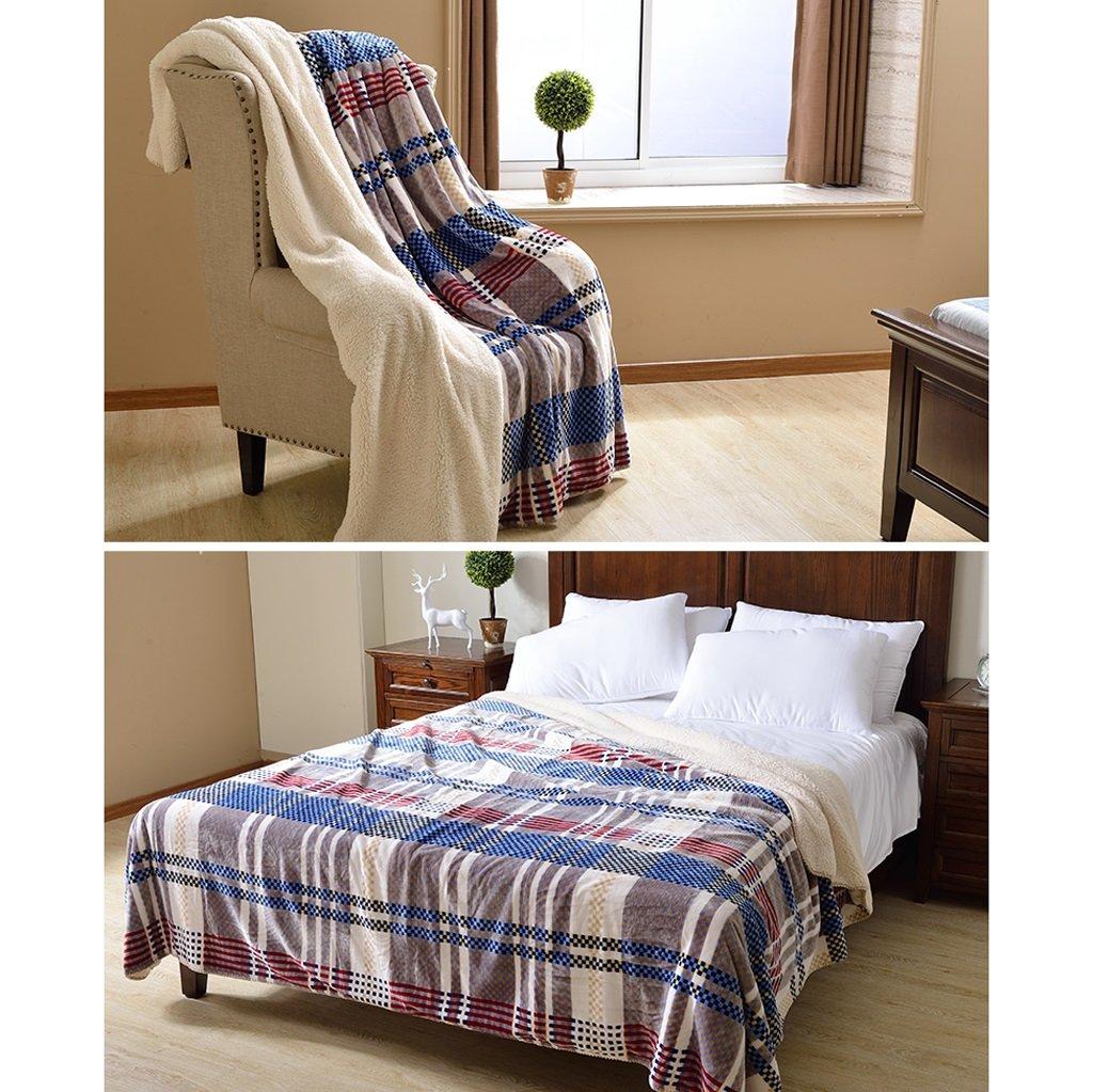 größe : 100 * 150cm Kuscheldecken HMLIFE Winter warme Decke Blaue Streifen Muster Schlafzimmer Bettdecke Büro Nap Decke Wohnzimmer mit Sofa Decke weich und komfortabel Heimtextilien, Bad- & Bettwaren