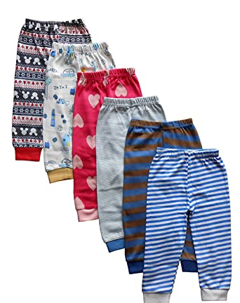 4d3c8b4c9 NammaBaby Kid s Cotton Pajama Pant with Rib - Pack of 6  Amazon.in ...
