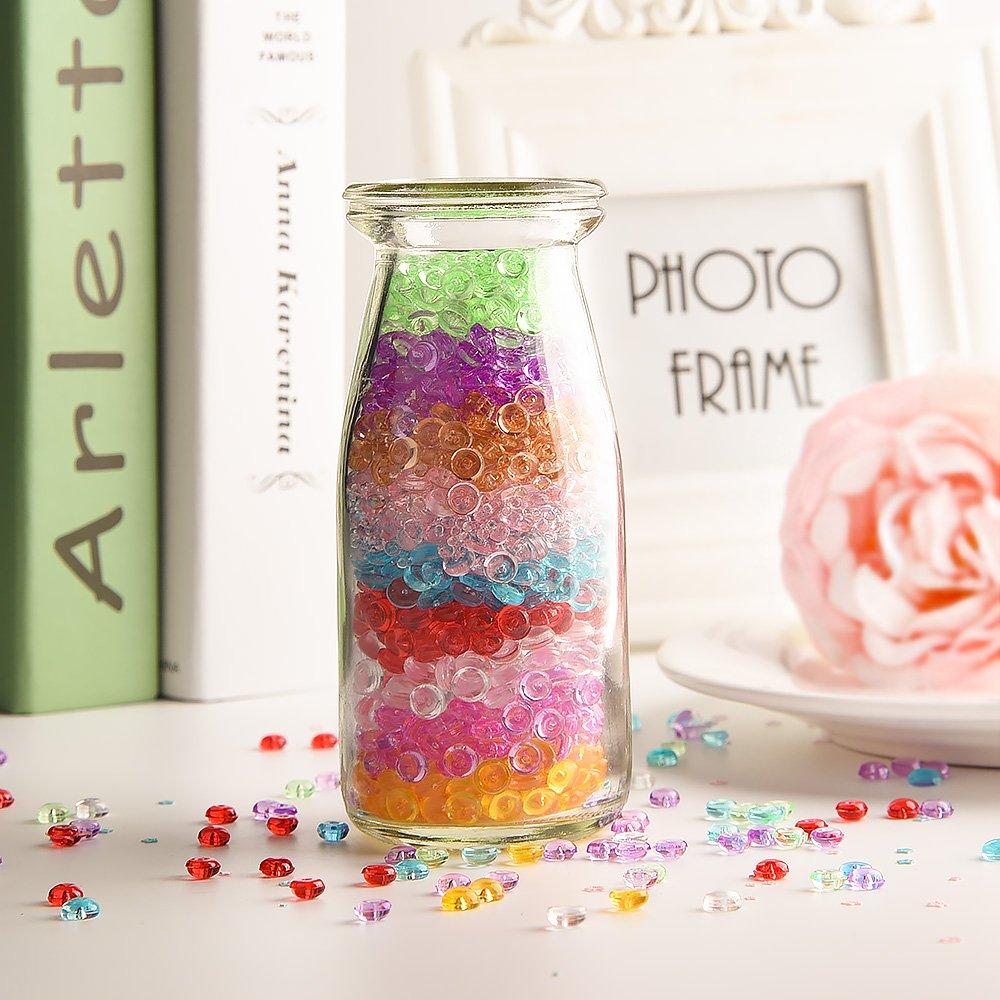 Kuuqa 10 colores Fishbowl Slime Beads pequeñas cuentas de artesanía para decoraciones caseras de limo, 10 paquetes (50 g / Pack): Amazon.es: Hogar