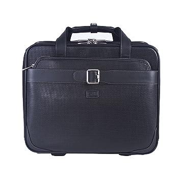 Condotti Full Grain Leather Briefcase Mallette, 43 cm, Dark Brown