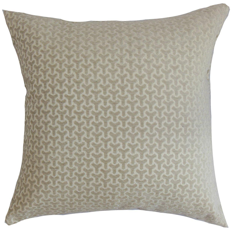 The Pillow Collection Cinquefoil Geometric Pillow Neutral