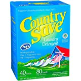COUNTRY SAVE - Biodegradable Non Toxic Fragrance Free Laundry Detergent Powder - 40 Loads for Regular Washes and 80 Loads for