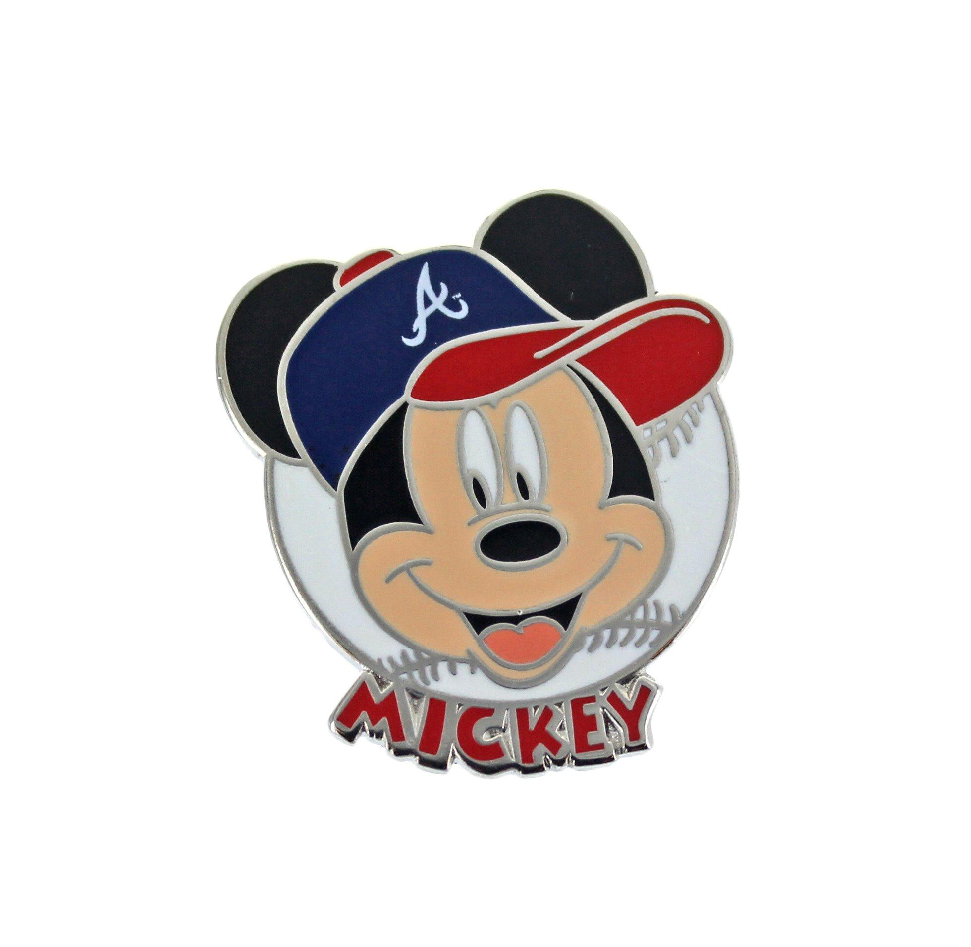 aminco MLB Atlanta Braves Disney Mickey Collectible Trading Pin
