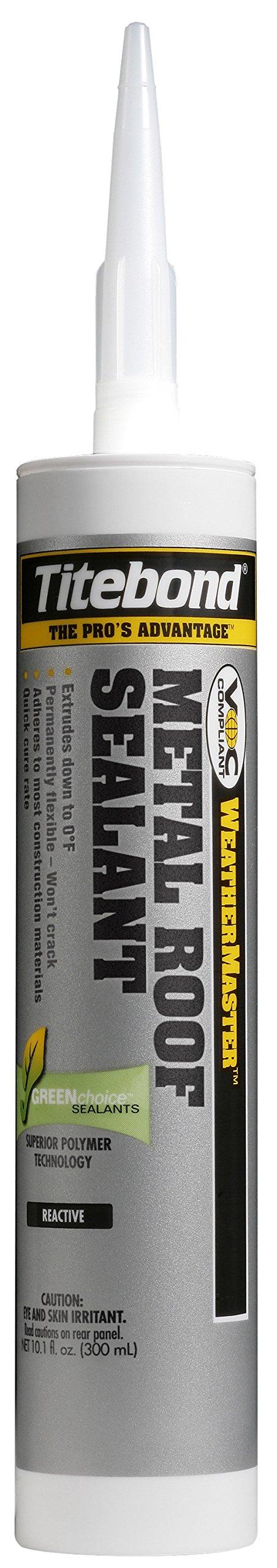 Titebond 62401 Metal Roof Sealant Cartridge, 10.1 oz., Gray