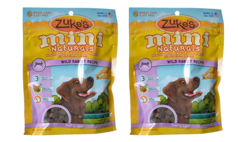 Zukes Performance Pet Mini Naturals Dog Treats Wild Rabbit 2 pack