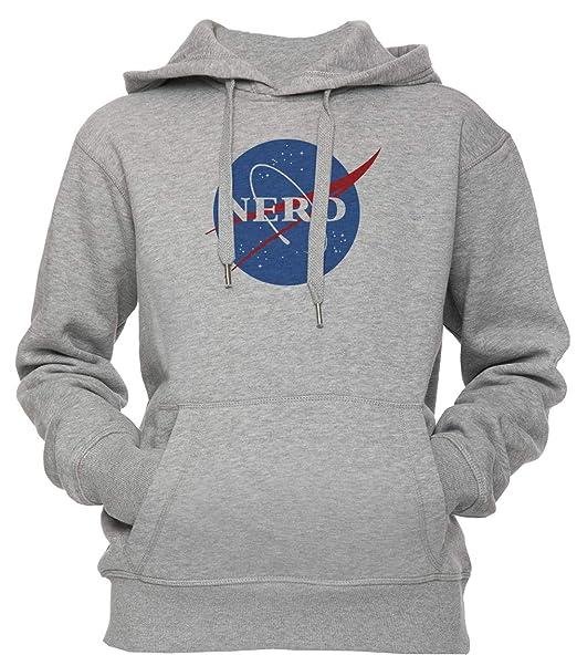 Nerd NASA Logo Geek Space Humor - Nerd Unisexo Hombre Mujer Sudadera con Capucha Pullover Gris Todos Los Tamaños Mens Womens Hoodie Grey: Amazon.es: Ropa ...
