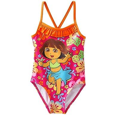 eaea349f71f6e Amazon.com: Dora The Explorer Little Girls' One-Piece Swimsuit (3T ...