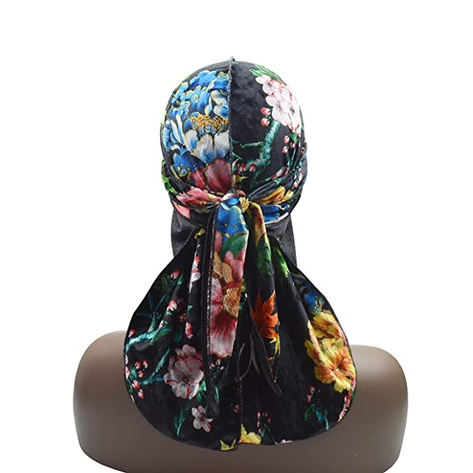 df26b5be262 Amazon.com  Silky Textile Printing Velvet Durag 360