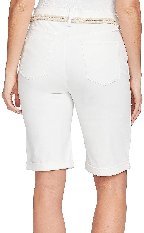 638f2e40f9 GLORIA VANDERBILT Petite Joslyn Braided Belt Bermuda Shorts at Amazon  Women's Clothing store: