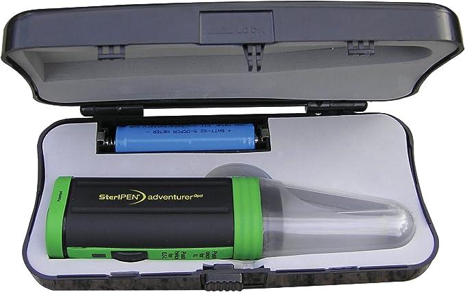 Steripen OPTI Solar Pack Portable UV Water Purifier/Verde Negro ...