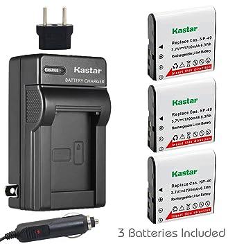 Amazon.com: Kastar Cargador, Batería para CNP40 – 1 NP-40 ...