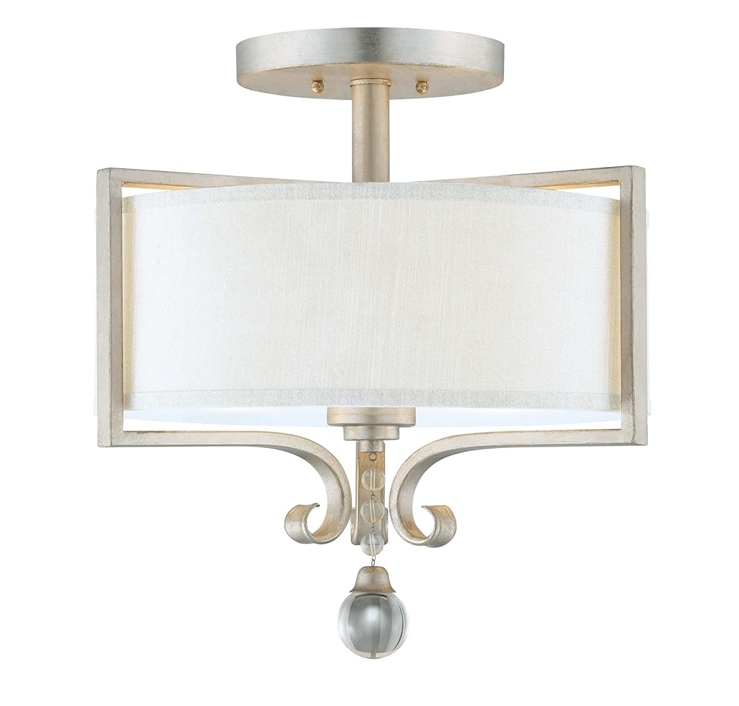 Savoy house 6 258 2 307 rosendal 2 light semi flush silver savoy house 6 258 2 307 rosendal 2 light semi flush silver sparkle close to ceiling light fixtures amazon arubaitofo Image collections