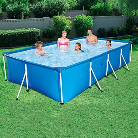 Geng Piscinas hinchables Gran Piscina para Niños Andamios Adultos Piscina Verano Al Aire Libre Rectangular (Color : Blue, Size : 300 * 201 * 66cm): Amazon.es: Hogar
