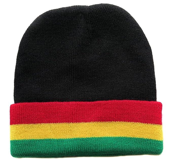Berretto da donna uomo Rasta Giamaica Reggae Africa Bandiera  Amazon ... a2e5fa42dc9e