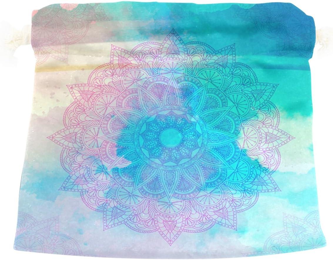 LEISISI Mandala Durable drawstring tote bags