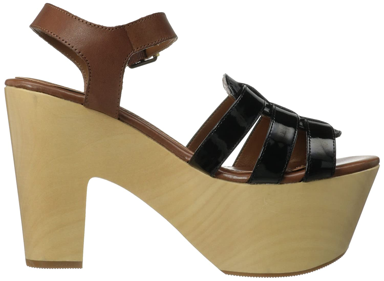 Chinese Laundry Women's Melt Down Platform Sandal B00FXR3GAQ 9 B(M) US|Black/Cognac