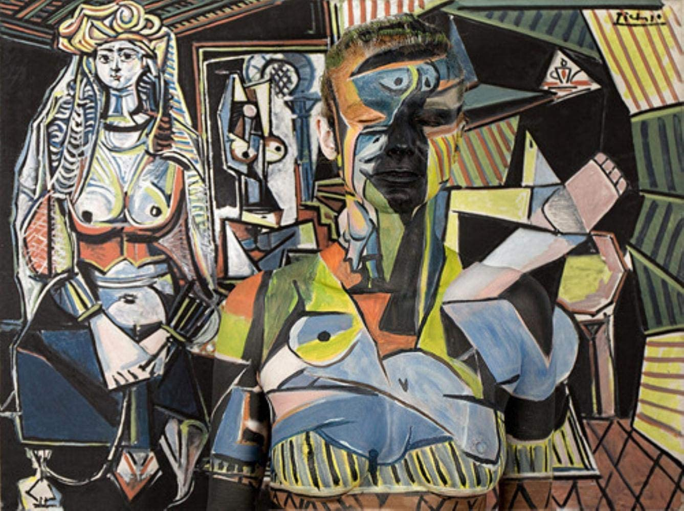 PICASSO The Women of Algiers OILPAINT ON FRAMED CANVAS WALL ART HOME DECORATION