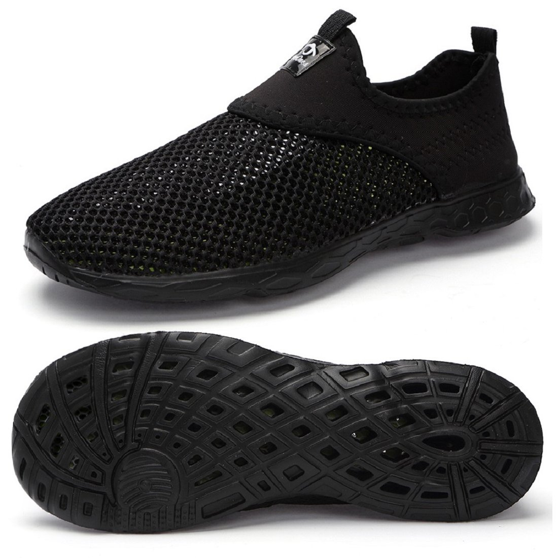 eyeones Men's Women's Lightweight Quick Drying Mesh Aqua Slip-on Water Shoes Perfect Match for Waterproof Phone Case