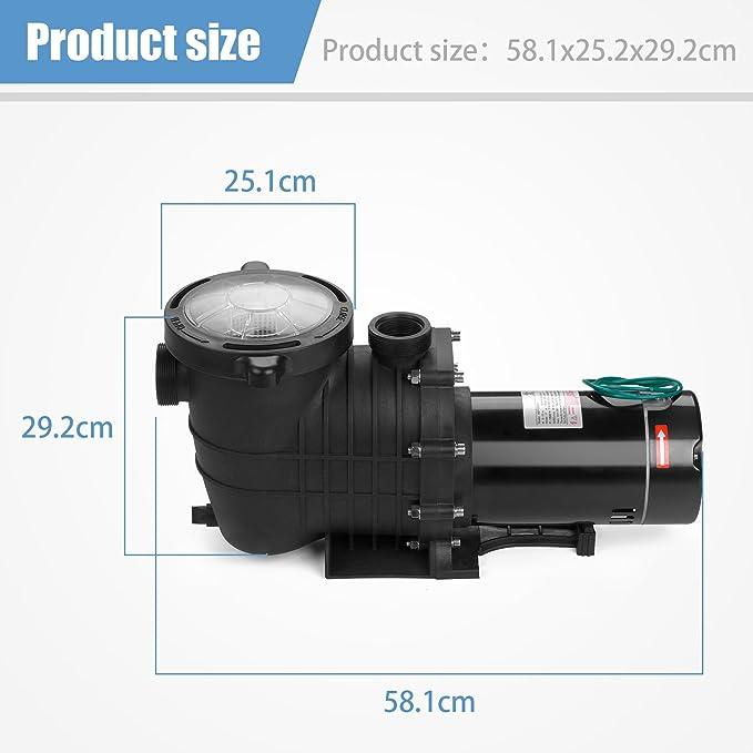 Amazon.com: SUNCOO - Bomba de natación eléctrica para ...