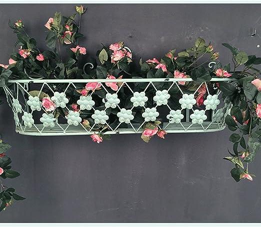Flower Stand PHTW HTZ Blanco Hierro jardín terraza Sala de Estar Adornos de Pared Flor estantes hogar estantes de Metal ++: Amazon.es: Hogar