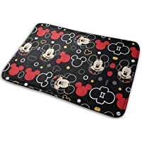 WOMFUI Black Mic-Key Mouse Bathroom Rugs Absorbent Non-Slip Bath Mat Washable Home Decoration for Indoor Shower, 15.7…
