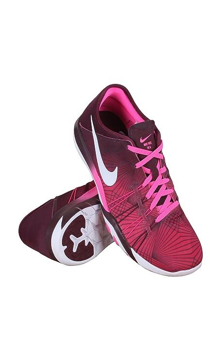 d3c35c88b2a3 Nike 833424-600 Women WMNS Free TR 6 PRT Pink Blast White-Night Maroon   Amazon.in  Shoes   Handbags