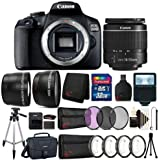 Canon EOS 2000D / 24.1MP WiFi/NFC 1080p CMOS Sensor Digital SLR Camera with EF-S 18-55mm Lens and Canon 100es Case Valueable Filter Kit Bundle