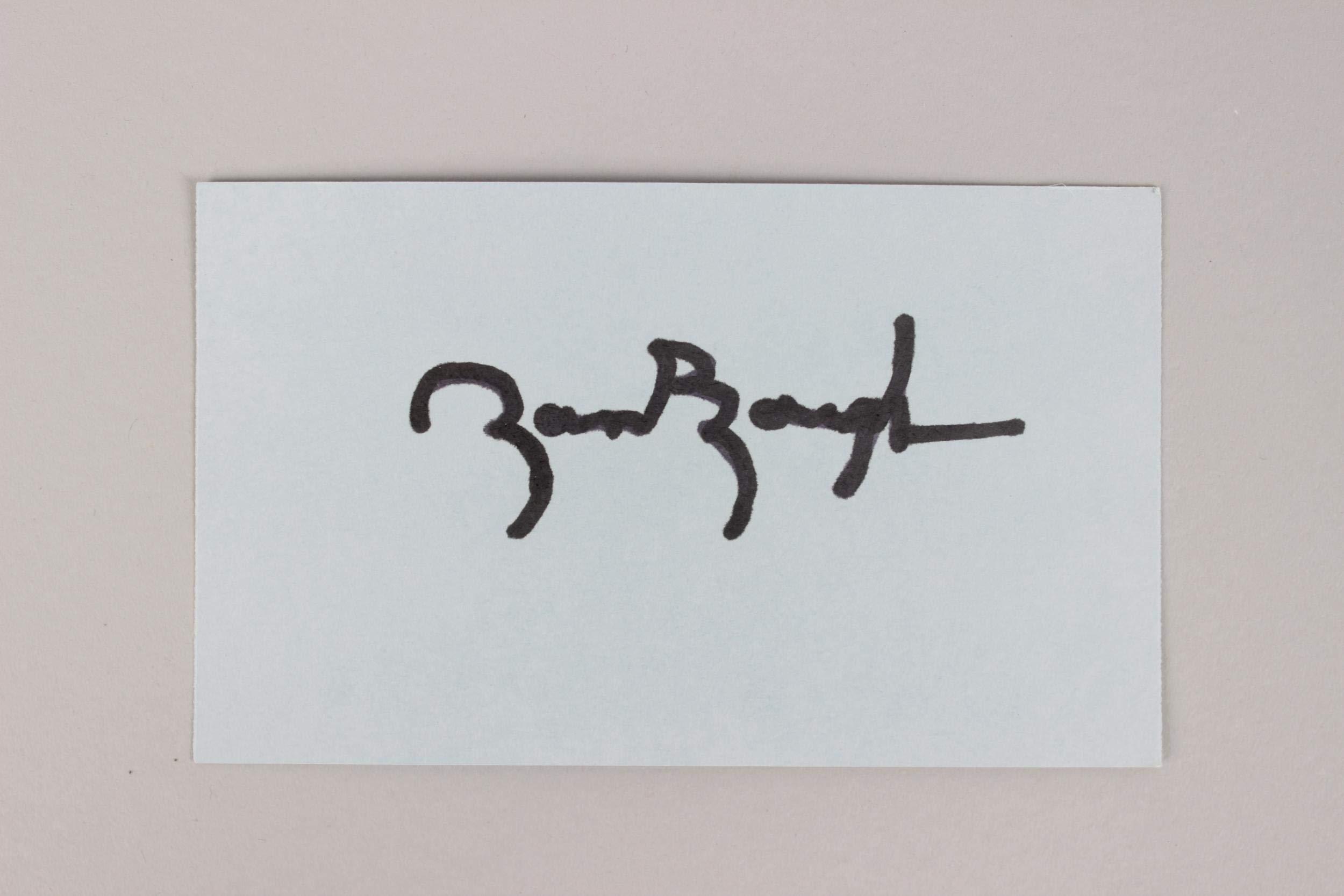 Washington Redskins HOF'er Sammy Baugh Signed 35 Index Card COA JSA Certified NFL Cut Signatures