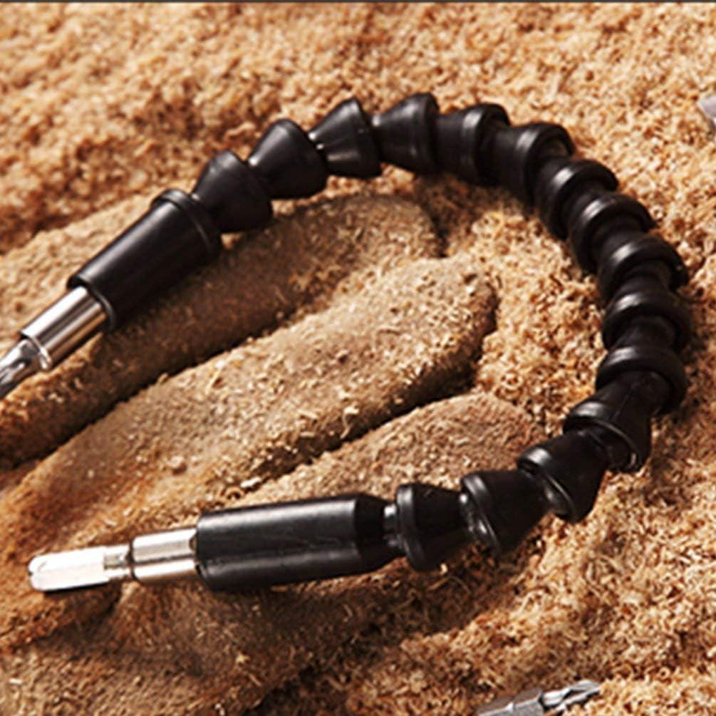 Yogatada Trapano Elettrico Asta Flessibile Hex Flex Connessione Universale Asta di prolunga Morbida Nera
