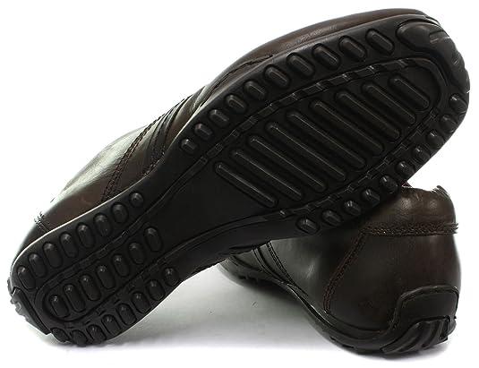 Zapatos tipo mocasines acordonados de cuero negro para hombres, modelo Kinder, de Red Tape, color marrón, tamaño 45 EU: Amazon.es: Zapatos y complementos