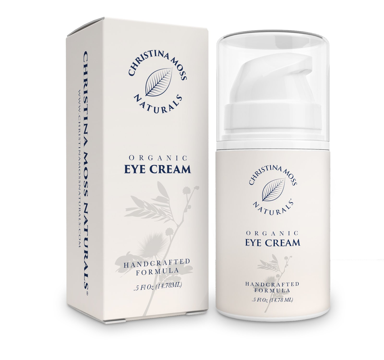 Eye Cream Moisturizer Organic & Natural Ingredients. Anti Wrinkle Anti Aging Firming Skin Care For Under Eyes. Unscented.