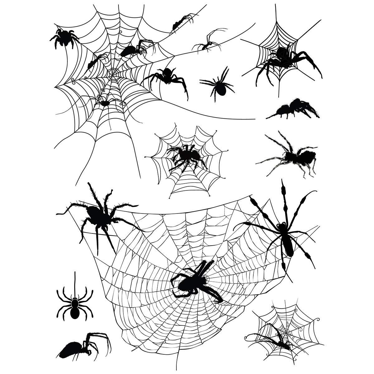Supperb Temporary Tattoos - Halloween Face Tattoos Horror Cobweb Spider Web Tattoo
