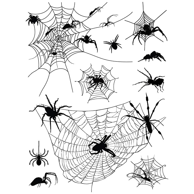Amazon Com Supperb Temporary Tattoos Halloween Face Tattoos Horror Cobweb Spider Web Tattoo Beauty