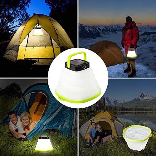 the longans portable led emergency light shown in different places of the campsite